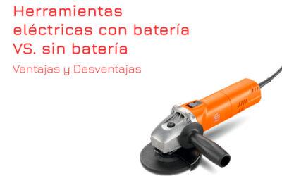 ¿Herramientas eléctricas con batería o sin batería?
